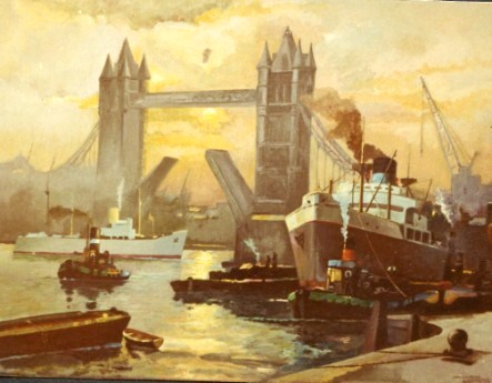 503 - London Tower Bridge (Oilpainting) [90x80]